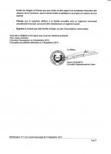 délibération 3 du 8 septembre 2015