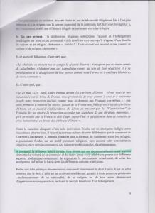 extrait surligné de la requête SOS Racisme contre la commune expliquant notre demande de dissolution